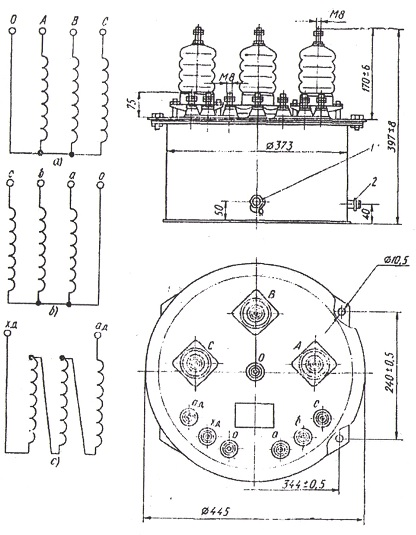 Схема трансформатора НТМИ